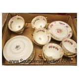 "Box Lot of ""Rosenthal Ivory Bavaria Floranada U.S. Patent"" Porcelain Cups and Saucers  Auction Esti"