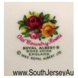"Box Lot of ""Royal Albert Bone China Old Country Roses"" Partial Dinnerware  Auction Estimate $50-$10"