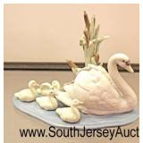 "Porcelain ""Lladro"" Swan and Babies Figurine  Auction Estimate $30-$50 – Located Glassware"