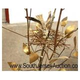 Modern Metal Art Work of Tree with Bird and Bird Nest Signed and Dated  Auction Estimate $100-$300
