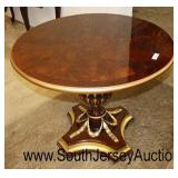 BEAUTIFUL Mahogany Inlaid and Banded Decorative Single Pedestal Parlor Table  Auction Estimate $200
