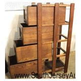 NICE ANTIQUE Mission Oak 4 Drawer Paneled File Cabinet  Auction Estimate $500-$1000 – Located Insid