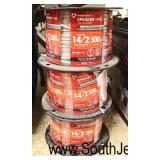 (3) Spools of Speaker Wire 14/2 500 Feet Each  Located Inside – Auction Estimate $____