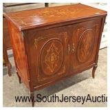 Mahogany French Style Highly Inlaid 2 Door Server with Applied Bronze  Auction Estimate $200-$400 –