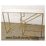 Modern Design Marble Top and Metal Base Console  Auction Estimate $100-$300 – Located Inside