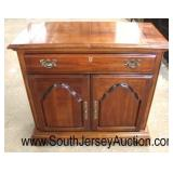 "SOLID Cherry ""American Drew Furniture"" One Drawer 2 Door Flip Top Server  Auction Estimate $100-$30"