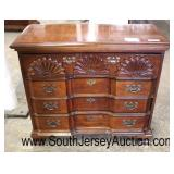 "SOLID Mahogany ""American Drew Furniture"" Bracket Foot Shell Carved 3 Drawer Bachelor Chest  Auction"