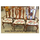 "8 Piece ""American Drew Furniture"" SOLID Cherry Queen Anne Dining Room Set -Table has 2 Leaves  Auct"