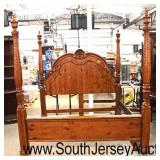 Knotty Pine Traditional Style Shell Carved 4 Poster King Size Bed  Auction Estimate $200-$400 – Loc