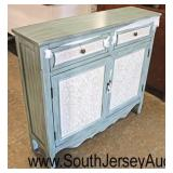 NEW Country French Style Paint Decorated Contemporary 2 Drawer 2 Door Buffet  Auction Estimate $200
