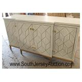 NEW Contemporary 4 Door Decorated Credenza with Fitted Interior  Auction Estimate $200-$400 – Locat