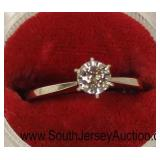 14 Karat White Gold Diamond Ladies Ring  Auction Estimate $200-$400 – Located Glassware