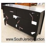NEW Contemporary 6 Drawer Low Chest in the Espresso Finish  Auction Estimate $200-$400 – Located In