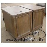 NEW PAIR of Rustic Style 3 Drawer Night Stand with UBS Ports  Auction Estimate $200-$400 – Located