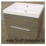 "NEW 24"" One Drawer Floating Bathroom Vanity  Auction Estimate $200-$400 – Located Inside"