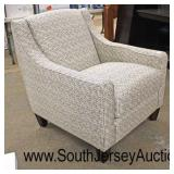 "NEW USA Made ""Franklin Corporation Furniture"" Upholstered Club Chair  Auction Estimate $100-$300 –"