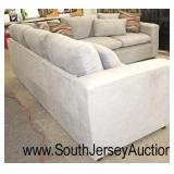 NEW Upholstered Grey Sectional 2 Piece Sofa with Decorator Pillows  Auction Estimate $400-$800 – Lo