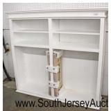 Brand NEW Unused White Paint Open Front Bookcase with Shelves still in the Packaging  Auction Estim