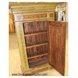 Paint Decorated One Door Pie Safe Cabinet