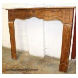 ANTIQUE French Carved Fireplace Mantle