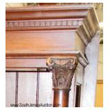 ANTIQUE Oak Hall Rack Bench