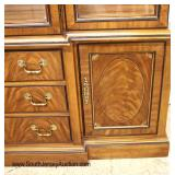 """BEAUTIFUL 9 Piece """"Drexel Furniture"""" Burl Walnut Inlaid and Banded Carved Shield Back Dining Room S"""