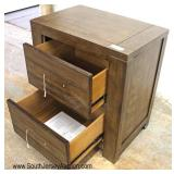NEW Rustic Style 2 Drawer Night Stand with Hardware