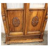Carved Country Style 2 Door Armoire