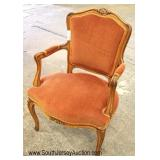 VINTAGE French Style Upholstered Arm Chair