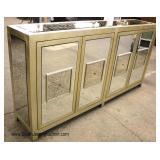 NEW Ultra Modern 4 Door Brass and Mirror Buffet
