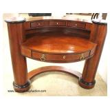 """NICE CLEAN """"Century Furniture"""" Burl Mahogany Inlaid Arched Desk"""