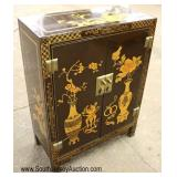 Lacquer Asian Inspired 2 Door Cabinet