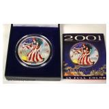 2001 Painted Silver Eagle Dollar