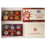 2003 U.S. Mint Silver Proof Set State Quarters