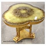 Italian Decorated Carved Lamp Table
