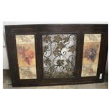 """""""Uttermost"""" Wall Hanging with Metal Artwork"""