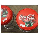 Set of 4 Coca Cola Advertising Bar Stools
