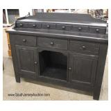 """Country Style """"Vaughan-Bassett Furniture Company"""" Black Distressed Wood Step Up Buffet"""