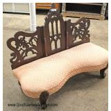ANTIQUE Transitional Empire Victorian Settee