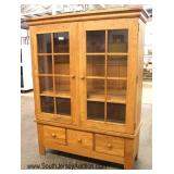 SOLID Oak 2 Door 3 Drawer Bookcase – Possible Amish Made