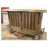 NEW Rustic Finish Free Edge Bar with Foot Rail