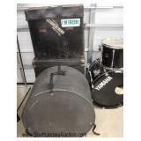"Large 23 Piece ""Yamaha"" Drum Set Stage Custom all Birch Shell Drums, Including  Drum Sticks, ""Sabia"