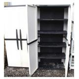 "Like New ""Enviro Elements"" PAIR of NICE PVC 2 Door Storage Cabinets"