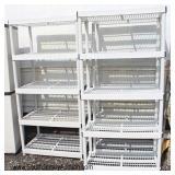 Selection of Like New Large PVC Shelving