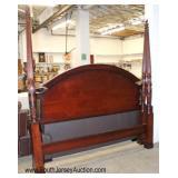 "Mahogany ""Bombay Furniture"" King Size Poster Bed"