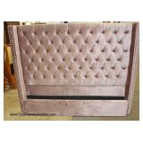 NEW Velour Button Tufted Queen Size Bed