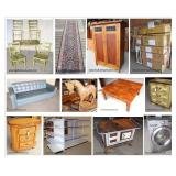 Estates Living & Downsizing: New to needs TLC Furniture, antiques, rugs, yard & garden, tools - Dock