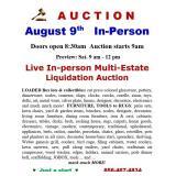 In-person AUCTION Multi-Estate Furniture / Collectibe Liquidation Auction