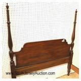 Lot 500 Henkel Harris Furniture SOLID mahogany full size 4 poster bed with rails