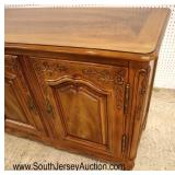 Lot 503 John Widdicomb VERY CLEAN 4 door fitted country French carved buffet in the walnut and maho